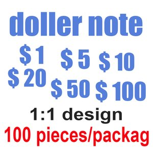 Fake prop money simulation banknotes simulation paper money fake props coins 10 20 50 100 US dollar bills props toy coins 05