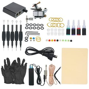 Professional Tattoo Machine Kit Machines Gun Ink Tattoo Power Supply Coils Guns with Needles or Permanent Makeup set