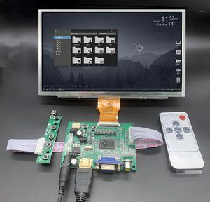 for Raspberry Pi Banana Orange Pi mini computer LCD Screen Display Monitor with Remote Driver Control Board 2AV VGA1