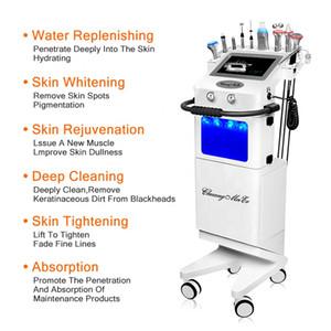 New 10 in 1 hydrafacials beauty machine microdermabrasion skin care facial treatment aqua peel oxygen beauty machine