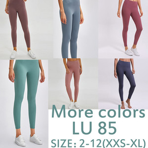 LULU 85 Feste Farbe Lemoñ Yoga Hosen Frauen Hautfreundliche Mode Leggings Hohe Taille Schnelltrocknung Lemoñ Sports Workout Activewear Lady XS-XL