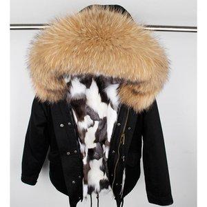 Woman Real fur lining Winter Jacket Parka Large Raccoon fur Hooded Coat1