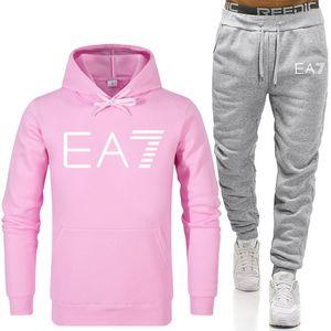 تدريب دعوى قطعتين مجموعة من السترات الرياضية الرجال جاكيتات هوديي و بروش sweatsuit ملابس ropa hombre 2020 جديد زائد الحجم