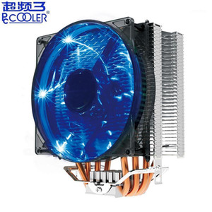 Pccooler X4 4 Heatpipe CPU cooler 120mm blue LED PWM quiet fan for Intel 775 1155 1156 2011 AMD AM4 AM3 PC radiator cooling fan1