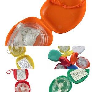 Masque de sauvetage Pocket 10pcs / Lot Resuscitor avec soupape à couper la CPR unidirectionnelle pour la formation des premiers secours Équipement d'urgence Multijwgc 1Tg6s