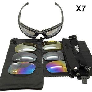 Daisy X7 / C5 Taktische Sonnenbrille UV400 Schutz Militärschießen, Brillenbrillen 4 Jagd, Airsoft Aktivitäten Objektive im Freien J1210