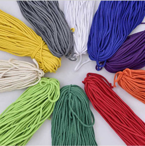 5mmx90m Braided 100% Natural Cotton Rope Twisted Cord Rope DIY Craft Macrame Woven String for Plant Hanger Wall Hanging 12 Color