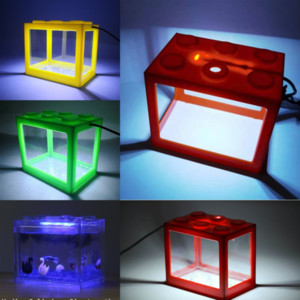 Pujma Yapay Süs Dağ Reçine Akvaryum Kurşun Aqrium Işık Lambası Tankı Balık Peyzaj Balık Tankı Manzara Lego Blokları