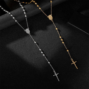Beading Pendants Necklace Personality Popular Jewelry Woman Man Religion Belief Chain Cross Christianity Necklaces Party 6 5pj K2