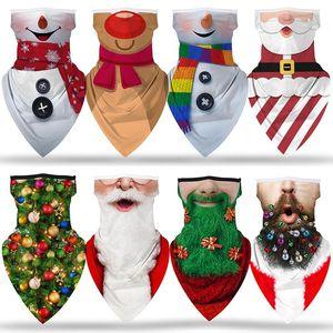 Impression 3D Masques de fête de Noël Face SHIELD SKILIND MULTI-FONCTION Écharpe Magique Turban Riding Masque Bandanas masque de visage IIA916