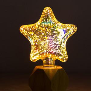 W180 3D LED Fireworks Lámpara de luz E27 85-265V 4W Bombilla de reemplazo de eilamento incandescente para festival Decoración de fiesta de cumpleaños de Navidad