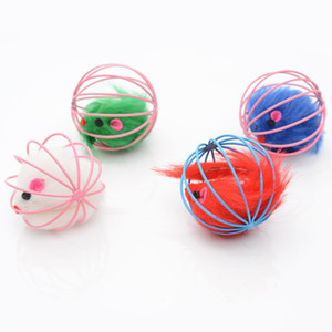 6cm Cat Toy Metal Ball Gage con peluche Pelliccia di grattatura Pelliccia divertente Rat Cats Playthings Pet Forniture 1 2CX K2