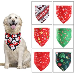 2020 new Christmas pet saliva towel Dog scarf and cat scarf