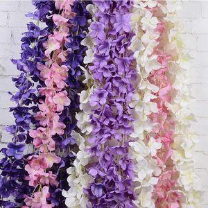 10 Pcs Rattan Strip Wisteria Artificial Flower Vine For Wedding DIY Craft Home Party Kids Room Decoration SDF-SHIP