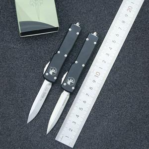 Automatische Micro-Technologie UTX70-Steinwaschtropfen D2 Blade Aluminiumlegierungs-Griff Selbstverteidigung EDC-Camping-Klappmesser