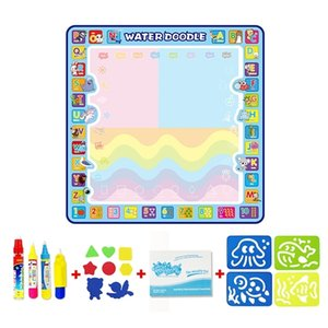 Magic & 3 Pens Water Doodle Mat Coloring Painting Rug Drawing Board Toys for Creative Children Gift Q1121