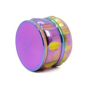 Beautiful 63mm Rainbow Grinders 4 Layers Grinder Zinc Alloy Material Top Quality Tobacco Herb Crusher DHL free WY983