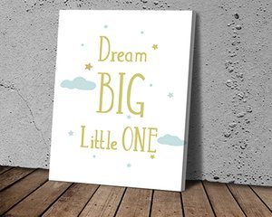 Dream Big Letter Art Poster HD Canvas Print Home Decoration Living Room Bedroom Wall Stickers Art Picture HD Canvas
