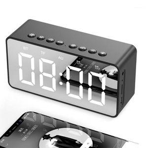 DragonPad LED Зеркало Цифровые Будильники Портативный Bluetooth Динамик Настольный Зеркальный Экран Отображение Дома Украшения Будильник Clock1