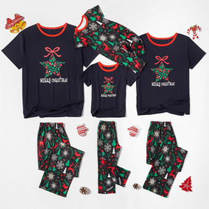 2020 New Hot-selling Parent-child Wear Skin-friendly and Comfortable Christmas Print Parent-child Pajamas Set