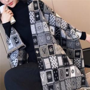 New fashion designer women's cashmere scarf blended autumn and winter designer shawl luxury versatile scarf 180-65cm