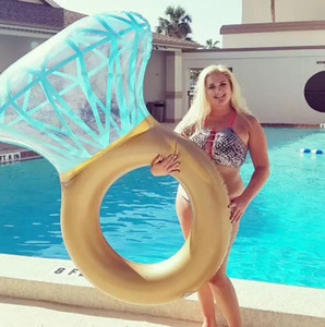 Diamond Ring & Heart Inflatable Swimming Pool Float Raft, for Engagement Water Party Lounge Beach Toy Photo Props Adults Kids Z1202