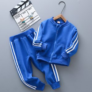 Autumn Winter Sports Leisure Two-piece Boys and Girls Pure Cotton Zipper 2020 New Children's Suit 3-12y