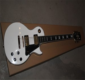 HOT Wholesale Top Quality New Style good fingerboard G CUSTOM white electric guitar with Golden Hardware