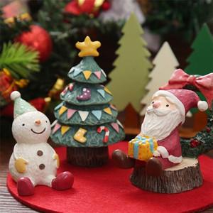 Resina mini figurina natale santa claus in resina giocattoli fai da te giardino ornamento artigianato bambini giocattoli regali all'ingrosso owe3154