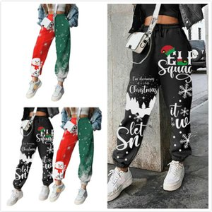 Women Leggings Designer Clothes 2020 Christmas Element Snowman Positioning Printed Plush Loose Fit Sports Pants Ladies New Casual Trousers