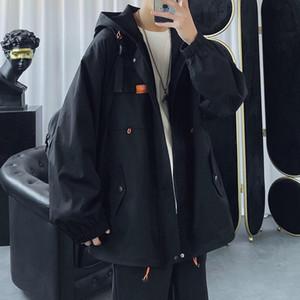 Neploha Man повседневная с капюшоном с капюшоном 2021 мода женщина корейский уличная одежда с длинным рукавом пальто негабаритные мужские одежды