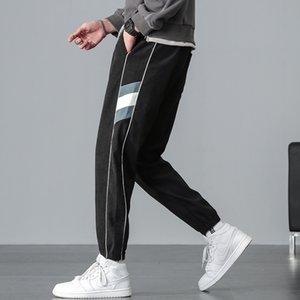 Men's Korean fashion casual pants binding feet 2020 new autumn versatile fashion Pai Capri casual pants F1210