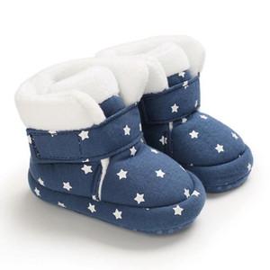 طفل الفتيات أحذية الشتاء زائد المخملية لطيف نجمة لينة وحيد الشتاء أحذية bootie الحذاء الدافئ 0-18 متر 2021 # 3