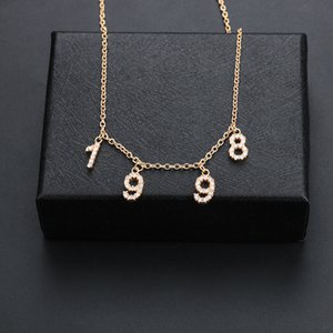 Lateefah Custom Name Necklace Women Special Date Year from 1980 to 2002 Personality Collares Jewelry Number or Letter Necklaces Y1130