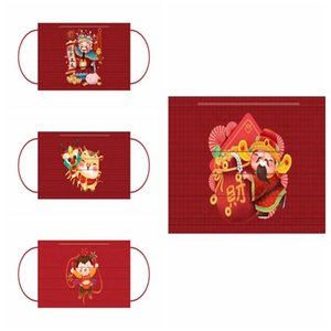 Fashion Multi Styles Spring Festival Face Masks Washable Dustproof CMask Facial Protective Cover Masks Anti-Dust Mask In Independent