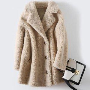 Women Winter Teddy Coat lambswool Fur Jacket Sheep Shearling Short Oversized Parka Warm Overcoat Lady Long Outerwear Female