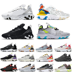 React Element 55 87 Taped Seams Solar Red React Element 55 Total Orange Men Running Shoes For Women Designer Athleti Mens women Trainer 55s Sneakers