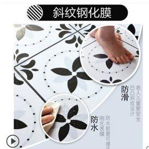 Bathroom anti-slip floor tile waterproof stickers decorative wall stickers kitchen floor mat wallpaper self-adhesive -10 201203