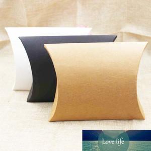 FeiLuanCustom pillow gift box kraft black white cardboard paper candy packing box mutli size 20pc per lot custom logo cost extra