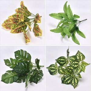 Artificial Plant Green Vegetation Potted Plant Wall pei cai Decoration Simulated Leaves Lamination Epipremnum Aureum Persi