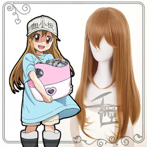 Hataraku Saibou Cells At Work Blood Platelet Brown Cosplay Wig + Wig Cap