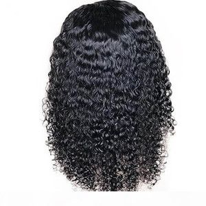 Wave water Curly Lace Front Wig And Lace Human Hair Wigs For Black Women Remy Brazilian Malaysian preplucked baby hair bleached knots