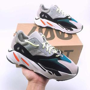 yeezy boost 350 380 500 700 Kanye West 700 V2 الاحذية 700v2 موجة عداء الرجال النساء الاحذية الصلبة رمادي التناظرية تيل كربون الأزرق مصمم الأحذية