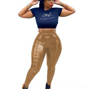 XLWF Oyoo Cores Psicodélicas Impresso Leggings Yoga Mulheres Cintura Alta Legging Yoga Colorido Stretchy Pilates Pants Workout Fitness