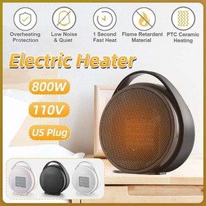 110V 800W Mini Portable Electric Heater Desktop Heating Warm Air Fan Home Office Air Heater Bathroom Radiator Warmer Fan