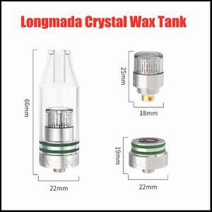 Langmada Kristall Wachs Tank Zerstäuber 22mm Durchmesser Quatz Kammer Wickless Glas 30-45W Suport 0.4Ohm Konzentrat Verdampfer DHL frei