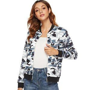 High Quality Camouflage Jacket Female Spring Autumn Zipper Baseball Uniform Long Sleeve Casual Coat Streetwear Plus Size 3XL