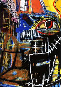 Jean Michel Basquiat Large Home Decor Handpainted &HD Print Oil Painting On Canvas Wall Art Canvas Pictures , F201201