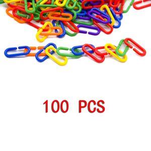 Type C Bird Toys Multicolor Birds Gnaw Plaything Parrot Colour Plastic Chain Link Hot Sale A Pack Of 100 Pcs Hot Sale 6 5jx J2