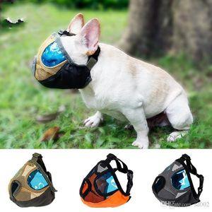 Breathable Nylon Dog Mask Anti Bite Chew Stop Barking Dogs Masks Traning Mouth Mesh Design Short Snout Pet Supplies 25dm ZZ